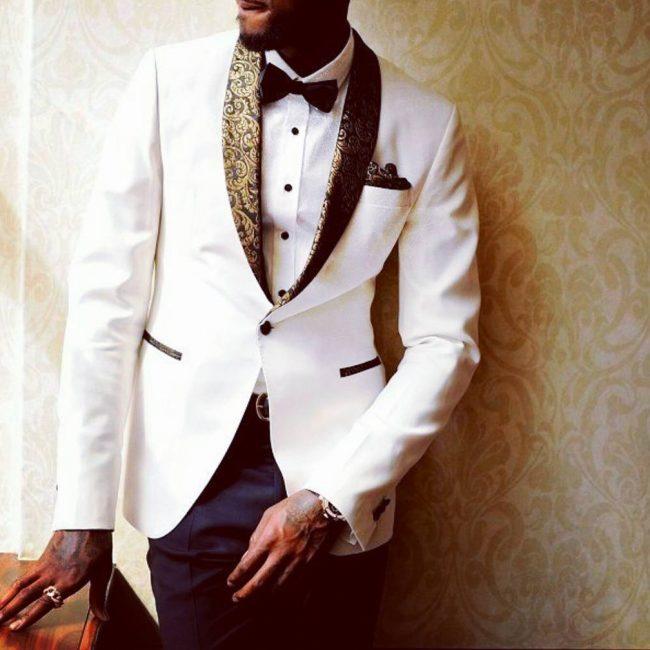 2 White Designer Blazer with Blue Trousers