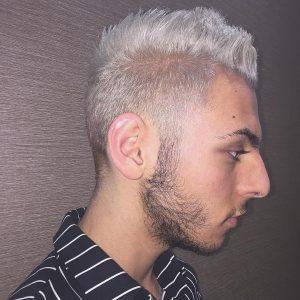 20 Complete Blond Semi-Undercut Style