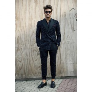 20 Double Breasted Navy Blue Suit