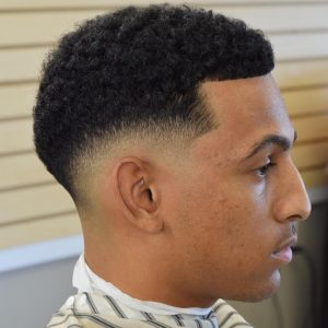 20 Drop Fade with Curls