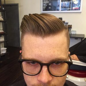 20 Gatsby With Tampering Skin Fade