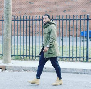 20 Parka with Timberland Boots