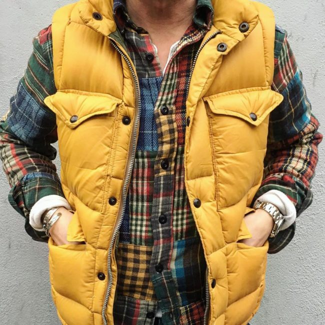 20 Patched Shirt and Yellow Vest