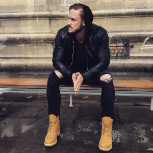 20 Timberland Boots with a Leather Jacket