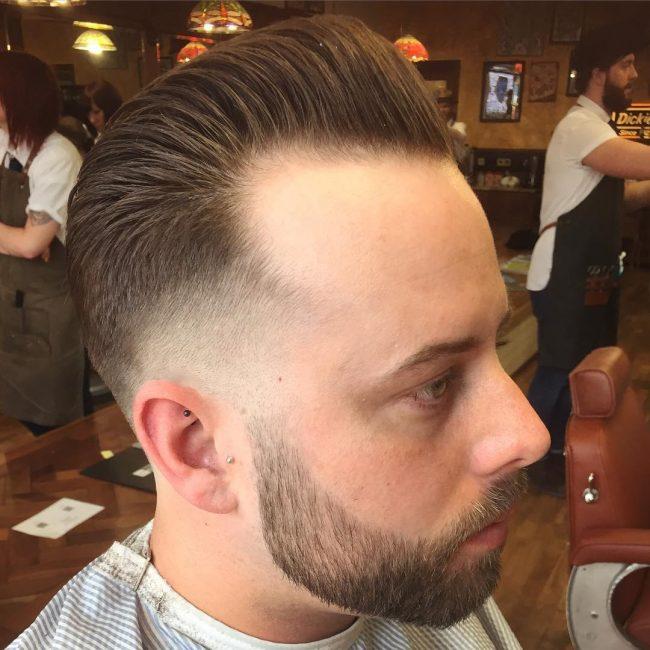 20 Zero Fade Pomp with Bald Taper Fade