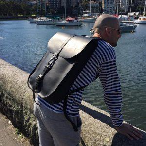 21 Black Backpack & Striped Pullover