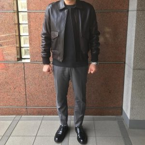 21 Black Leather Cordovan Shoes & Black Leather Jacket