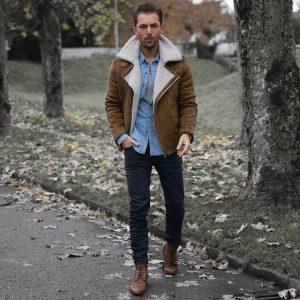 21 Dark Beige Casual Boots & Matching Styled Beige Jacket