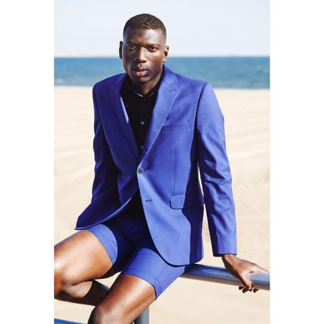 21 Royal Blue Short Suit