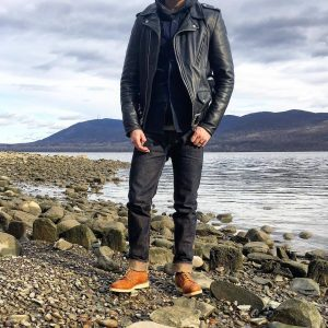 21 Sharp and Sleek Leather Jacket and Denim Combination