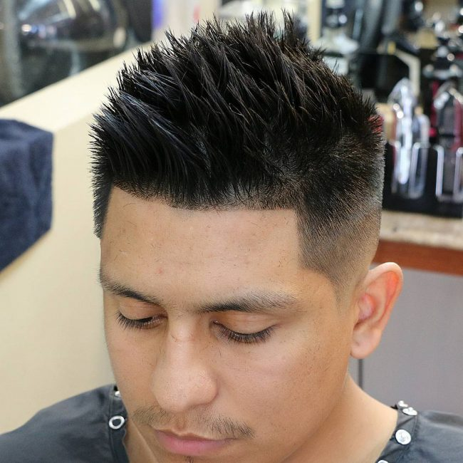 21 Sharply Spiked Hair