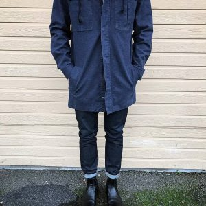 22 Dry Blues Jeans & Long Matching Light Coat