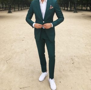 22 Green Suit & White Canvas