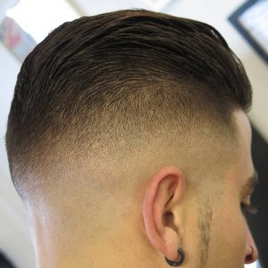 22 Slick Back Top With Low Bald Fade