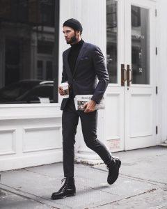 22 Turtleneck Under Charcoal Grey Suit