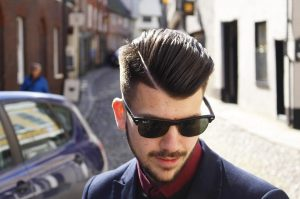 23 Angled and Side Parted Pomp