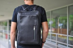 23 Black Backpack & Navy Blue T-Shirt