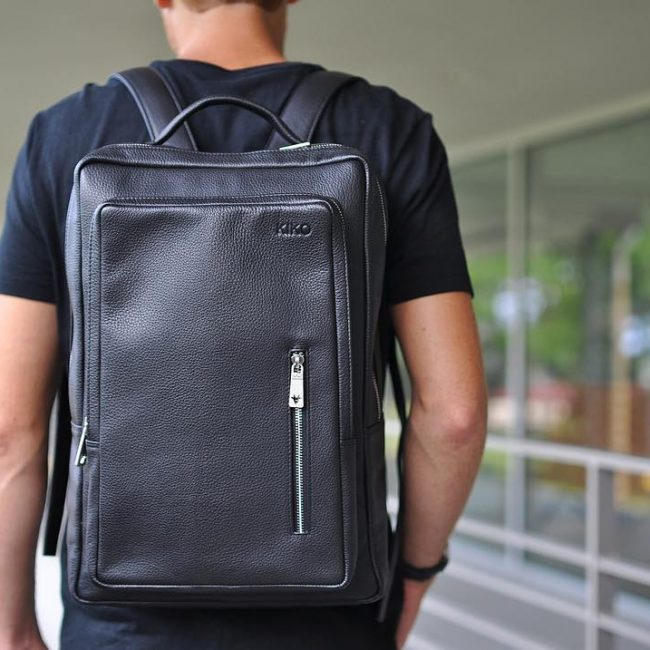 23 Black Backpack & Navy Blue T-Shirt