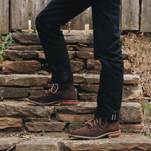 23 Brown Casual Boots & Black Trousers