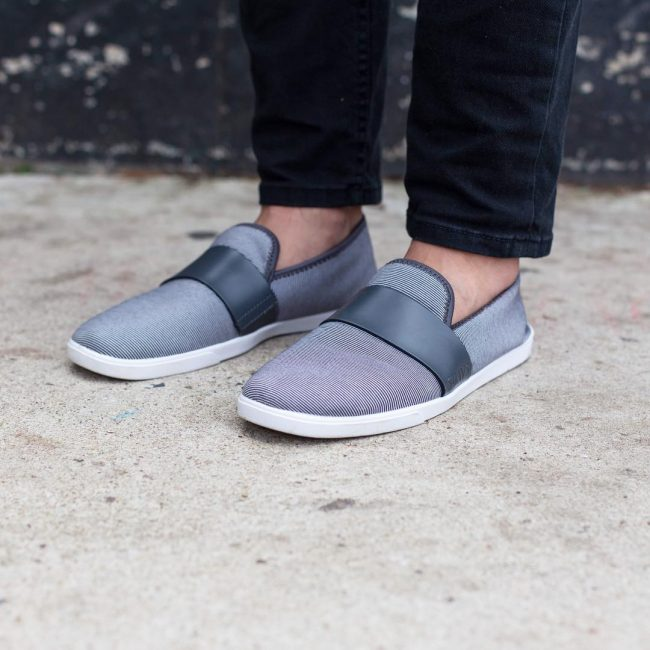 23 Gray & Black Men's Slip On Shoes