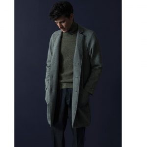 23 Grey Long Coat and a Matching Grey Full-Neck Sweater