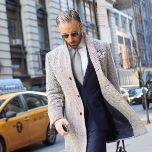 23 Herringbone Jacket with 3 Piece Suit