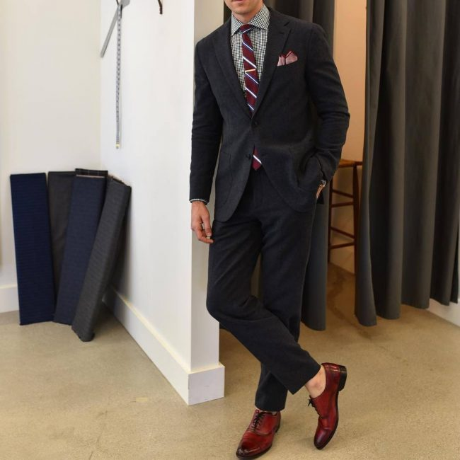 23 Matching Oxblood Tie and Shoes