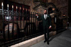 23 Slim Fit Suit & Black Leather Shoes