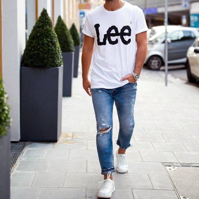 23 White Lee - Blue Jeans