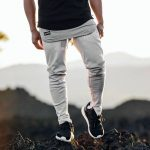 24 Cream White Joggers and Grey-Black T-Shirt