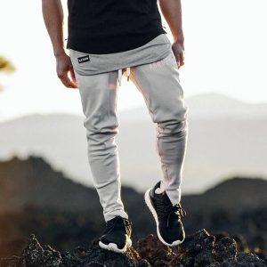 24 Cream White Joggers and Grey-Black T-Shirt