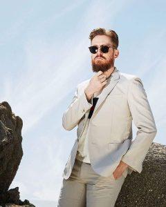 24 Cream White Suit