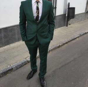 24 Green Designer Suit & White Shirt