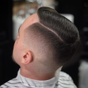 24 Skin Fade With Side Sweep