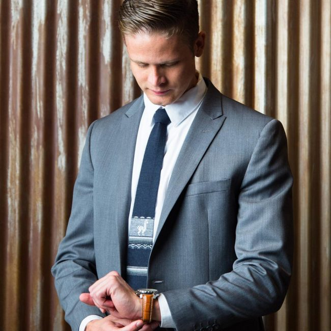 24 Styled Blue Skinny Tie
