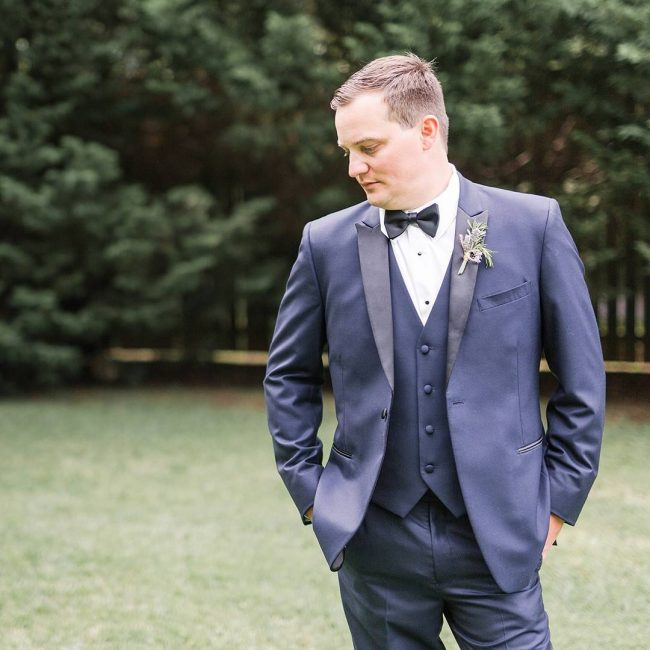 25 Simple But Classy Blue Wedding Suit