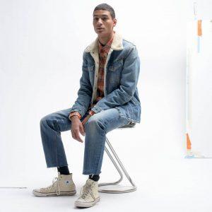 26 Faded Blue Jeans & Designer Jeans Jacket