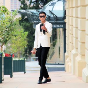 26 Fitting White Blazer with Black Outfit