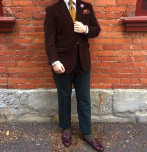 26 Red-Brown Loafers and a Matching Blazer