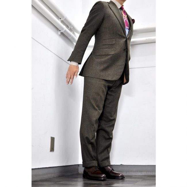 27 Dark Brown Shoes & Grey Designer Suit