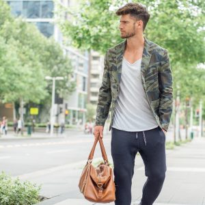 27 Grey Joggers and Camo Cuffed Jacket