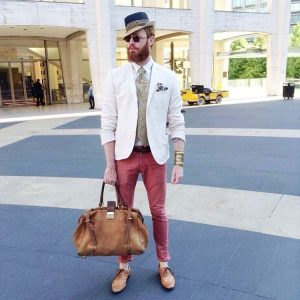 28 Cream White Blazer with Brown Fitting Jeans