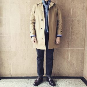 29 Black-Brown Leather Shoes & Long Brown Coat