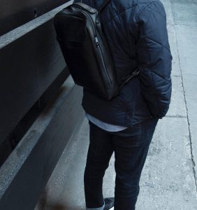 3 Black Backpack & Fitting Blue Jeans Pants
