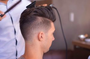 3 Quiff with Angular Parting