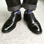 3 Shiny Black Leather Shoes with Laces