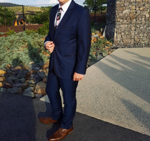 3 Styled Blue Suit & Brown Leather Shoes