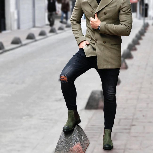 30 Jungle Green Casual Boots & Long Jungle Green Jacket