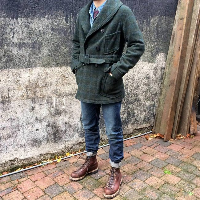 30 Wool Trench Coat Over Denim