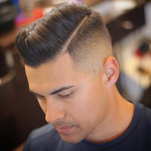 31 Contrasting Shaded Side Part Haircut